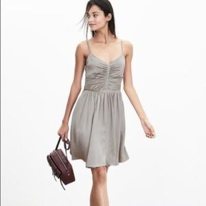 NWT Banana Republic Silk Shirred Dress Sz 12P